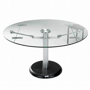 Table Ronde Extensible Design : table ronde en verre extensible grande table a manger design maisonjoffrois ~ Teatrodelosmanantiales.com Idées de Décoration