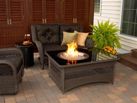 patio table with propane pit pit design ideas