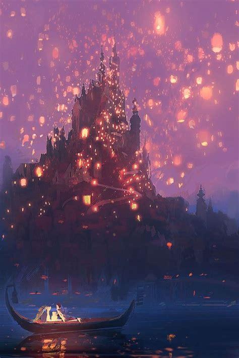Tangled Lanterns Concept Art Disney Phone Invasion