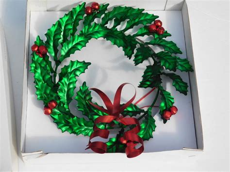 Department 56 Holly Bow Wreath 10 In. Christmas Metal