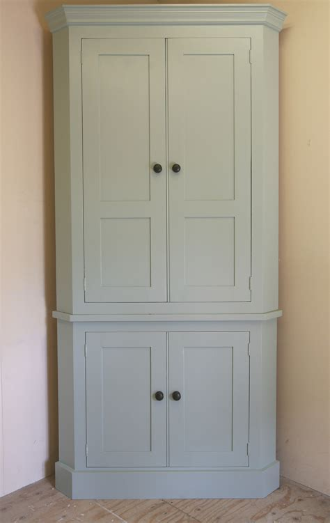 Tall White Corner Kitchen Storage Cabinet With Doors of