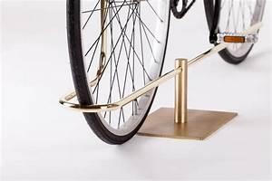 Bi-Track Bicycle Stand in Polished Brass by Masanori Mori ...