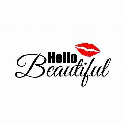 Hello Svg Clipart Lips Cricut Phrase Graphics
