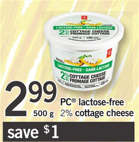 lactose free cottage cheese pc lactose free 2 cottage cheese on salewhale ca