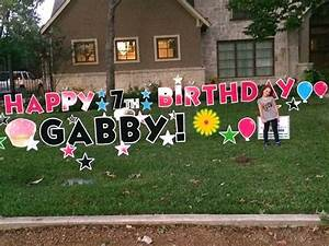 32 best yard signs images on pinterest birthday yard With happy birthday letters for yard