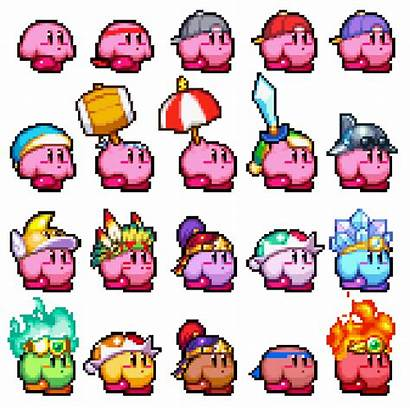 Kirby Pink Puff Gameboy Upgrades Powers Costumes