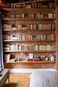 la bibliotheque murale en 65 photos inspirantes With couleur moderne pour salon 13 la bibliothaque murale en 65 photos inspirantes archzine fr