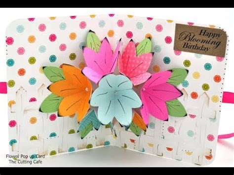 flower pop  card template  cutting cafe youtube
