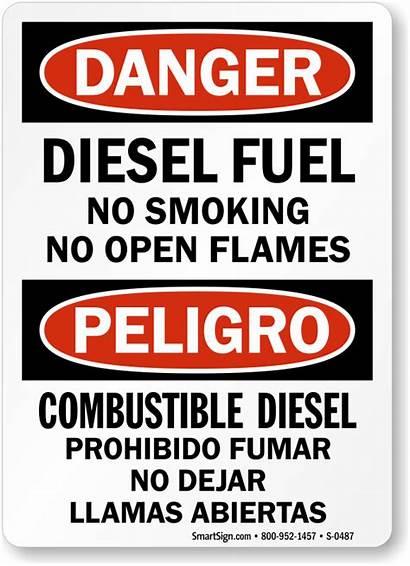 Fuel Sign Diesel Smoking Signs Danger Flammable