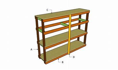 Garage Plans Shelving Shelves Wood Diy Build