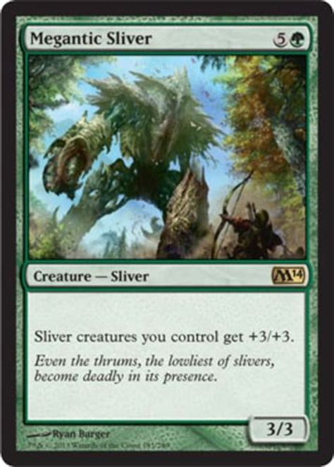 magic sliver deck ideas megantic sliver magic the gathering mtg m14 green