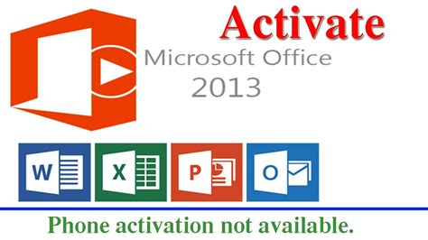 how to activate microsoft office 2013 professional plus phone activation not available youtube