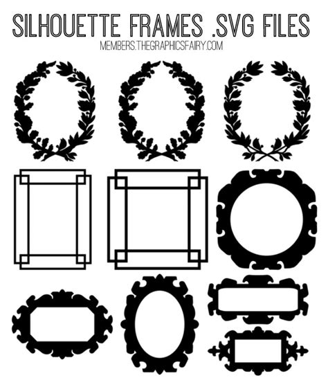 ✓ free for commercial use ✓ high quality images. Gorgeous Silhouette Frames Kit - SVG Cut Files! TGF ...