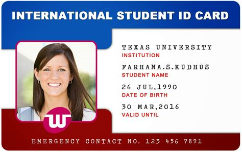 Beautiful Student Id Card Templates Desin And Sample Word