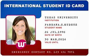 beautiful student id card templates desin and sample word With school id cards template