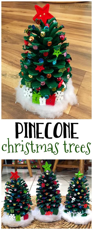 pinecone christmas tree craft make adorable pinecone christmas trees for a christmas kids craft so easy and cute diy