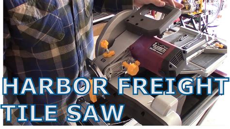harbor freight tile saw 10 harbor frieght tile saw unboxing and assembly