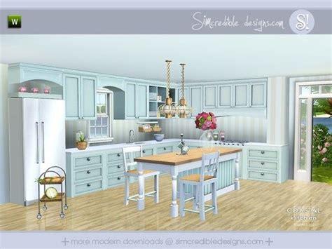 coastal kitchen  simcredible sims  downloads cc