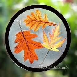 Herbstdeko Fenster Schule by Basteln Im Herbst Mit Kindern Fensterbilder Mit Echten