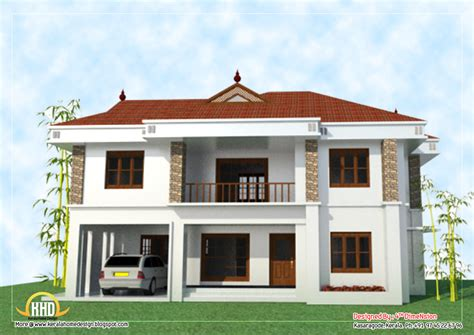 2 floor houses 2 house elevation 2743 sq ft kerala home