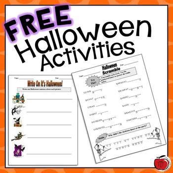 free halloween worksheets by tchrbrowne teachers pay teachers