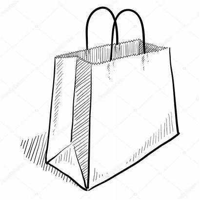 Bag Shopping Sketch Illustration Vector Drawing Lhfgraphics