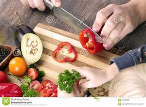 Food, Family, Cooking And People Concept - Man Chopping