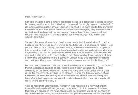 persuasive letter to headteacher gcse marked and bad exles of persuasive writing ks2 89290