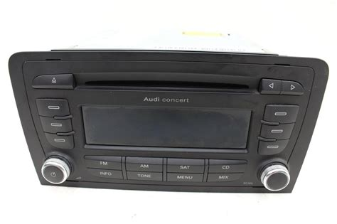 audi a3 radio audi a3 8p 2 0 concert ii stereo radio cd player no code ebay