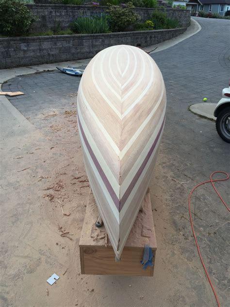 sanding diy boat wooden canoe boat building