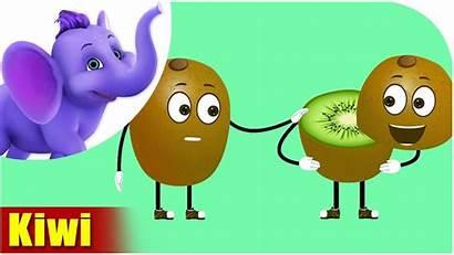 Kiwi Fruit Cartoon Fruits Children Rhyme Hindi
