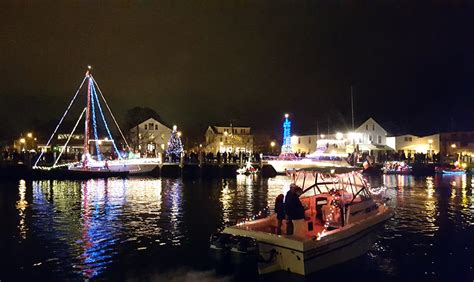Boat Parade 2017 by Lighted Boat Parade 2017 In Mystic Ct