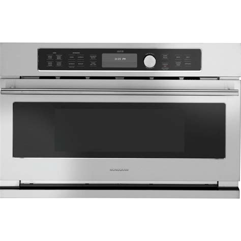 ge monogram zscjss advantium  stainless steel electric single wall oven speed oven