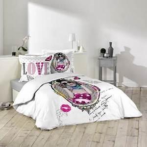 Housse de couette ado adolescent linge de lit housse for Amenagement chambre ado avec housse de couette rose pas cher
