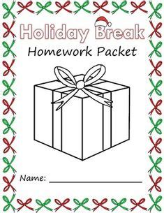 holiday break homework packet  images word problem