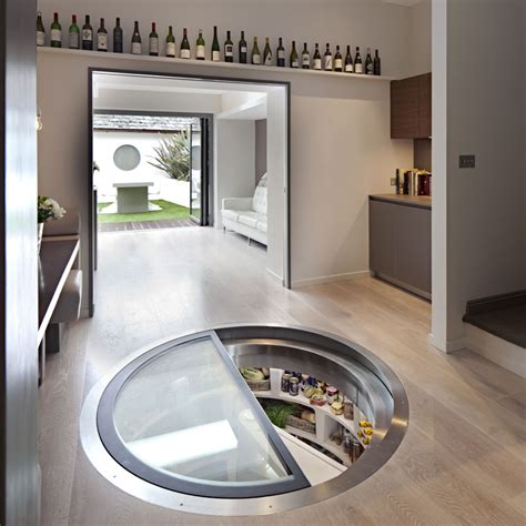 spiral wine cellar in kitchen floor spiral cellars resident magazine 9374