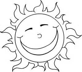 Cartoon Sun Coloring Page