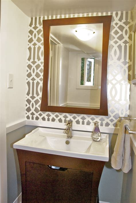 Narrow Bath Floor Cabinet by Powder Room Reveal Tiny Silver Gem Jewels At Home