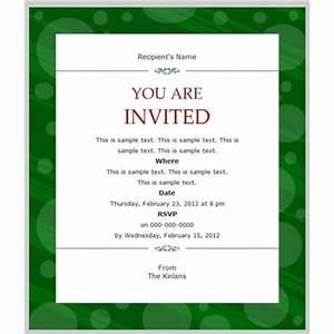 business invitation template example mughals With banquet invitation templates free