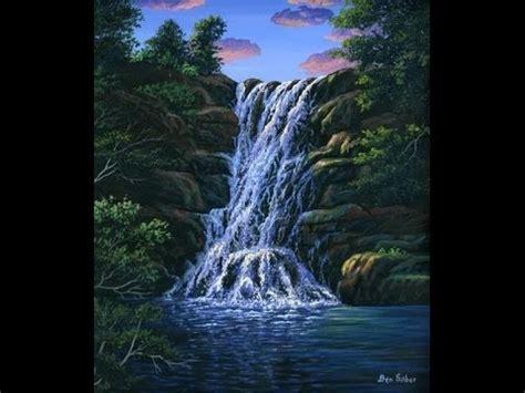 comment peindre la chute d eau a l acrylique sur la toile