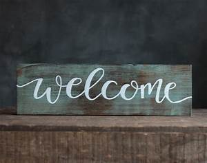 Welcome, Hand, Lettered, Wood, Sign, Hand, Painted, In, Mill, Creek, Wa