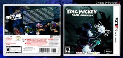 Epic Mickey Power Of Illusion Nintendo 3ds Box Art Cover