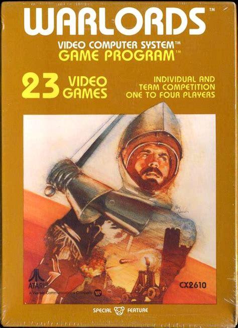 Warlords Vintage Atari Vcs Game Cartridge Box Art