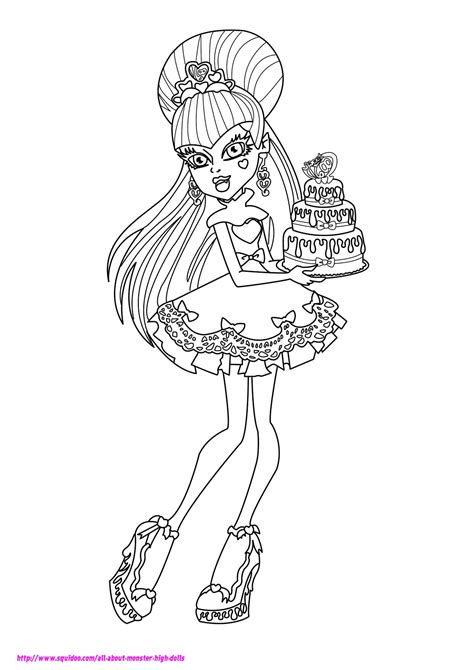 monster high coloring pages  dr odd
