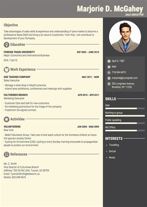professional resume templates world  reference