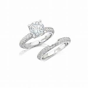 Natalie k diamond 14k white gold engagement ring setting for Wedding bands and engagement ring sets