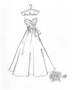 custom wedding dress sketch - Simple White Dress For Wedding