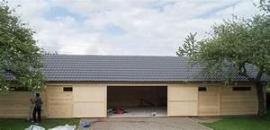 Hangar En Kit Bois : construction d 39 un hangar garage ne bois decochalet ~ Premium-room.com Idées de Décoration