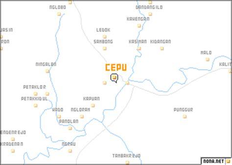 Cepu (Indonesia) map - nona.net