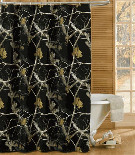 camo bathroom decor realtree ap black shower curtain camo trading